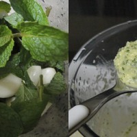 mint and garlic