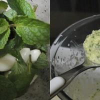 mint and garlic