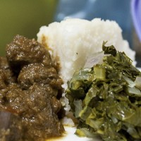 liver, ugali and sukuma