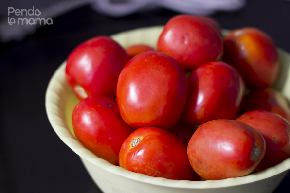 the tomatoes, washed and ready