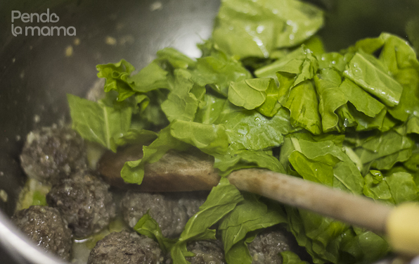 ...then threw in the spinach, once the spinach softened it was done