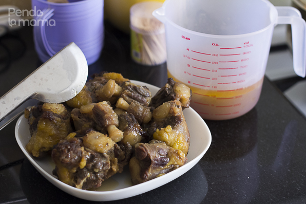 the pre boiled oxtail and its stock