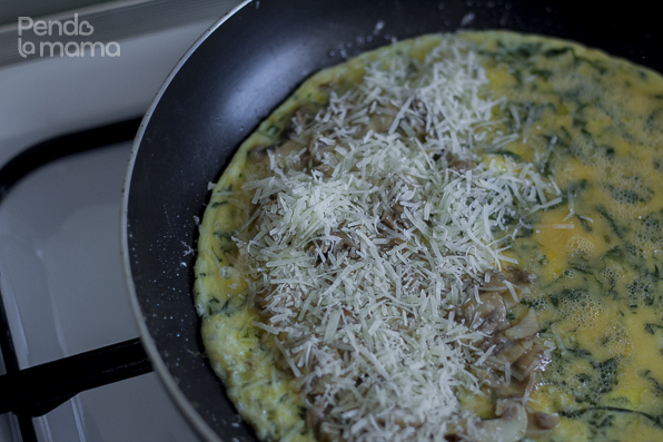 and sprinkle some grated cheese on top