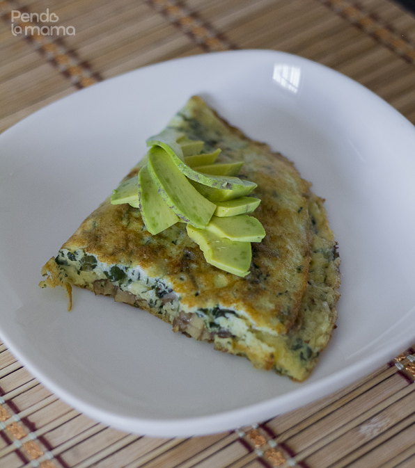 if you live avocado, you will love it over this omelet!