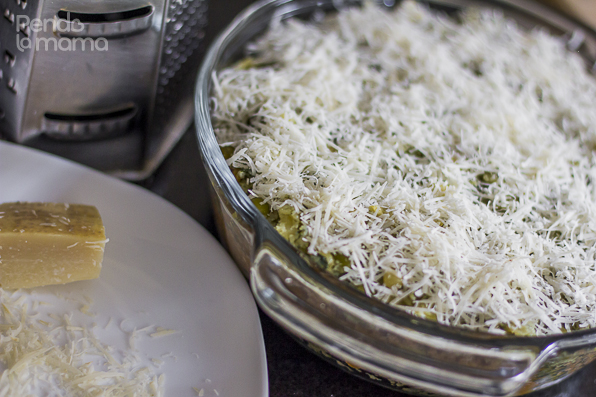 then top it up with fresly grated cheese, parmesan cheese if you have it.!