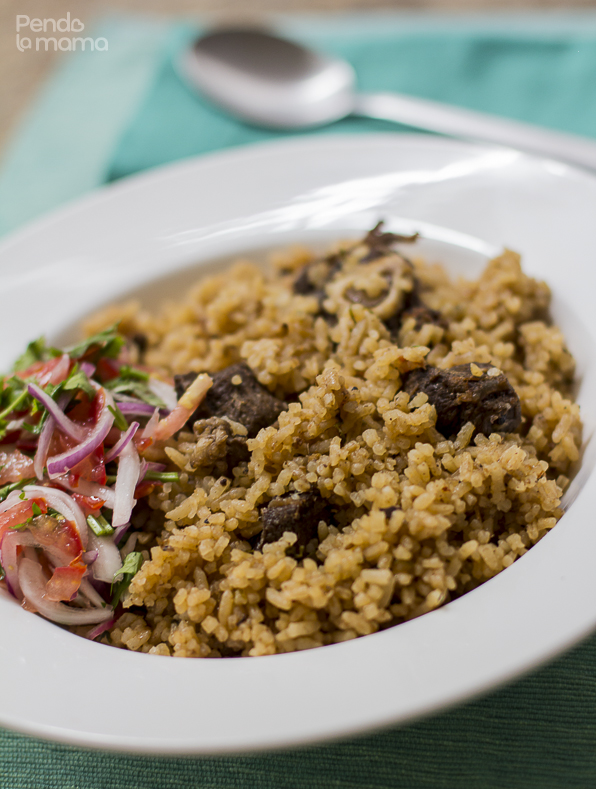 pilau with goat meat pendo la mama